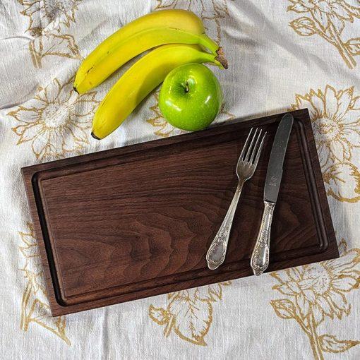 Cutting board1c_blk walnut_7.75x14.75